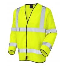 Leo Shirwell Hi-Vis Yellow Long Sleeve Waistcoat