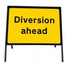 Diversion Ahead Metal Sign Face  (P2702)