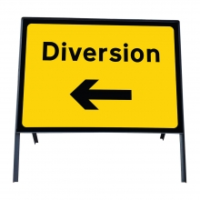 Diversion Left Metal Sign Plate (P2702)