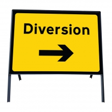Diversion Right Metal Sign Plate (P2702)