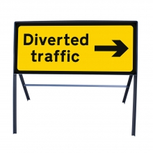 Diverted Traffic Right Ahead Metal Sign Face (P2703)