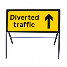 Diverted Traffic Ahead Metal Sign Face (P2703)