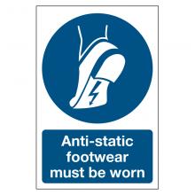 Anti-static Footwear Must Be Worn Sign