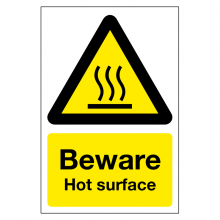Beware Hot Surface Sign