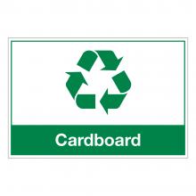 Cardboard Waste Sign