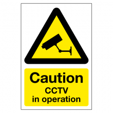Caution CCTV In Operation Sign