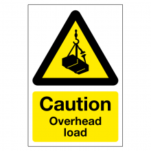 Caution Overhead Load Sign
