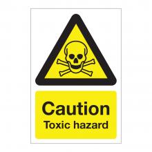 Caution Toxic Hazard Sign