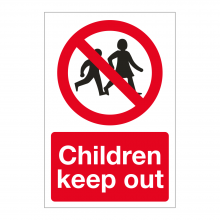 Children Keep Out Sign