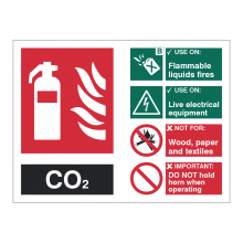 Carbon Dioxide (CO2) Fire Extinguisher Sign