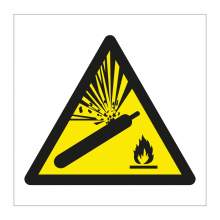 Compressed Gas Symbol Sticker