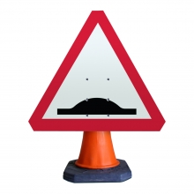 Road Hump Ahead Cone Sign (P557.1)