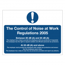 Control Of Noise At Work Regulations 2005 Sign