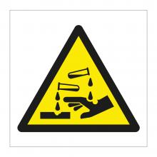 Corrosive Symbol Sticker