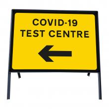 COVID-19 Test Centre Left Metal Sign Face
