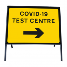 COVID-19 Test Centre Right Metal Sign Face