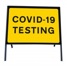 COVID-19 Testing Metal Sign Face