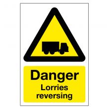 Danger Lorries Reversing Sign