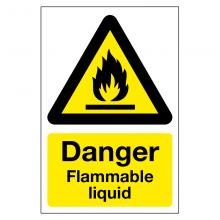 Danger Flammable Liquid Sign