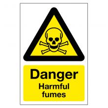 Danger Harmful Fumes Sign
