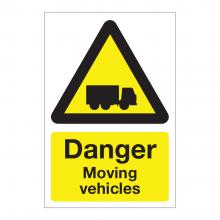 Danger Moving Vehicles Sign