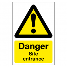 Danger Site Entrance Sign