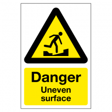 Danger Uneven Surface Sign