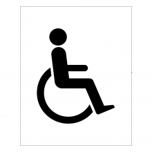 Disabled Accessible Toilet Symbol Sign