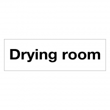Drying Room Sign