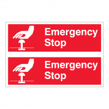 Emergency Stop Sign (2up)