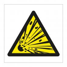 Explosive Material Symbol Sticker