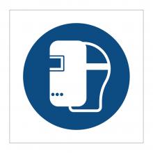 Faceshield Symbol Sticker