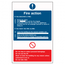 Fire Action Sound The Alarm Sign