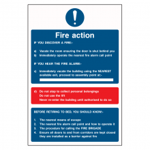 Fire Action Vacate The Room Sign