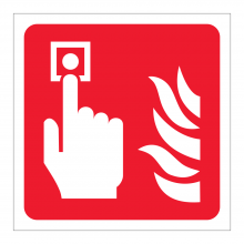 Fire Alarm Call Point Symbol Sticker