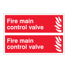 Fire Main Control Valve Sign (2up)