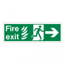 Fire Exit Running Man & Right Arrow Sign