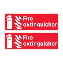 Fire Extinguisher Sign (2up)