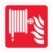 Fire Hose Reel Symbol Sticker