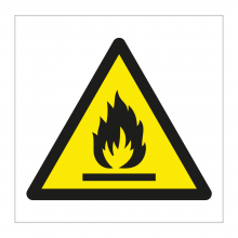 Highly Flammable Symbol Sticker