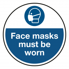 Face Masks Must Be Worn Stickers