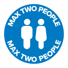 Max Two People Floor Graphic