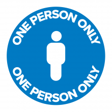 One Person Only Floor Graphic