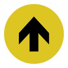 One Way Arrow Floor Graphic
