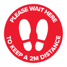 Please Wait Here Floor Graphic