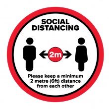 Social Distancing Please Keep a Minimum 2m Floor Graphic