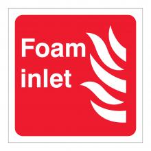 Foam Inlet Symbol Sticker