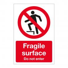 Fragile Surface Do Not Enter Sign