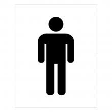 Gents Symbol Toilet Sign