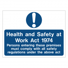 Health & Safety At Work Act 1974 Sign